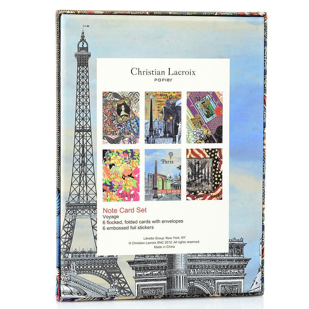 Набор открыток Christian Lacroix Papier Voyage с серебряными наклейками с логотипом