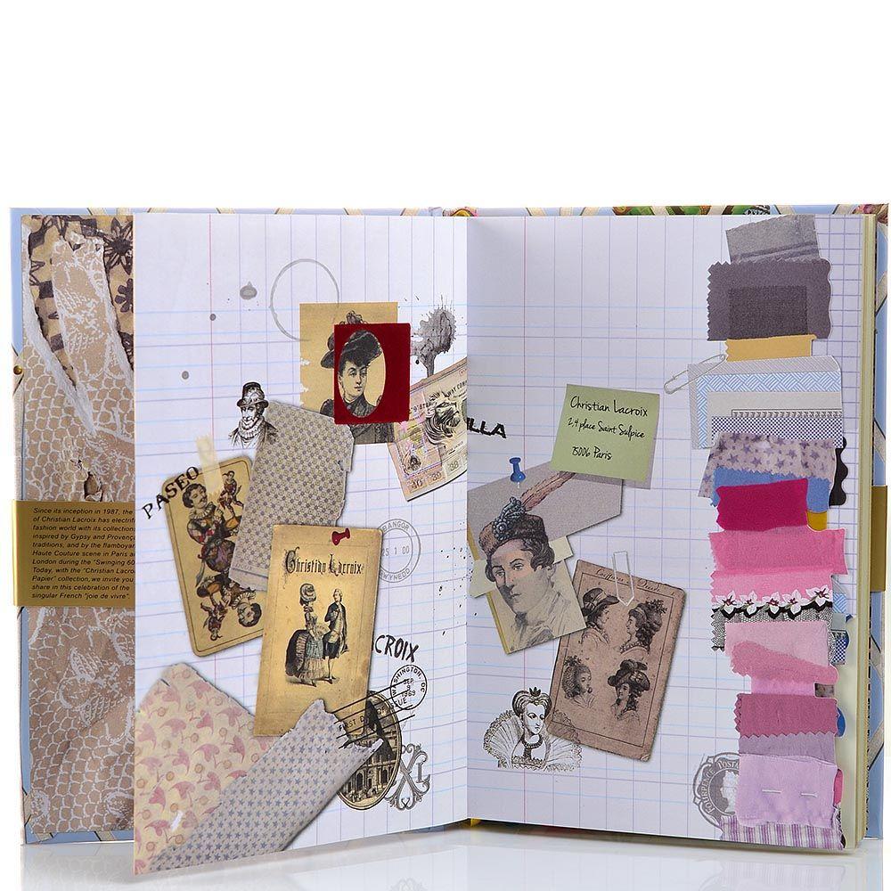 Блокнот-альбом Christian Lacroix Papier Souvenir формата А5 в жестком переплете с лентами-закладками