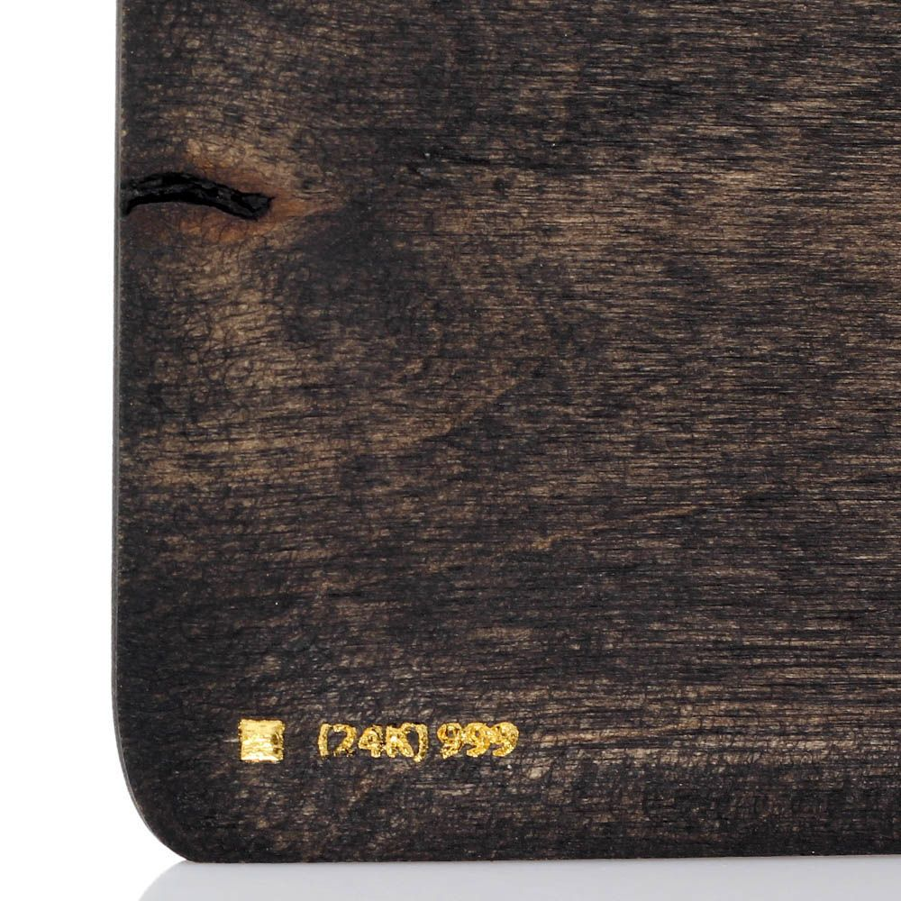 Блокнот с тиснением золотом GBwoodArt из натурального дерева А5