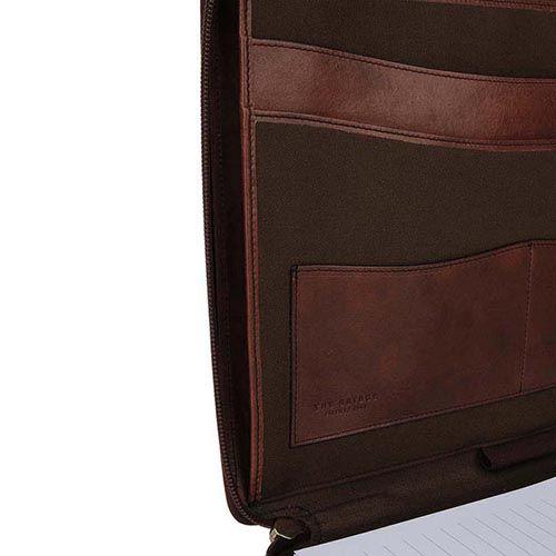 Блокнот -папка The Bridge Story Uomo на молнии коричневая, фото
