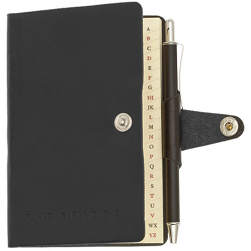Адресная книга The Bridge Story Uomo с ручкой в комплекте, фото