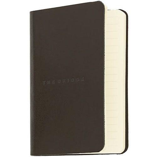 Записная книжка с линейкой The Bridge Story Uomo кожаная черная, фото
