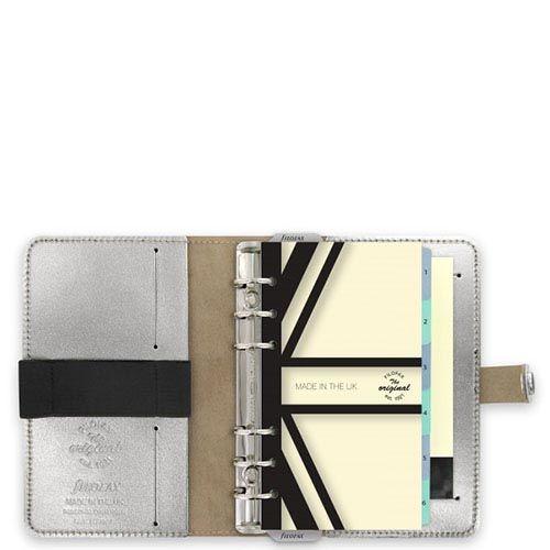 Эксклюзивный органайзер Filofax Limited Edition A5 The Original кажаный серебристый, фото