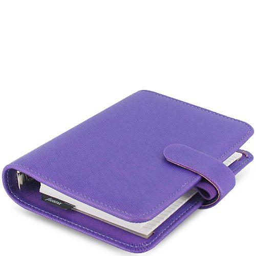 Карманный органайзер Filofax Pocket Saffiano фиолетовый яркий, фото