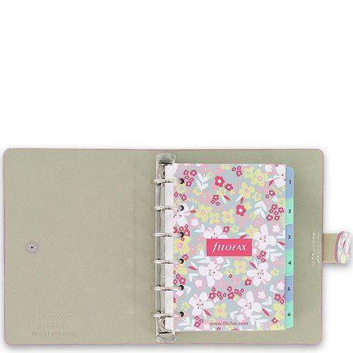 Маленький органайзер Filofax Pocket Blossom с цветочным принтом, фото