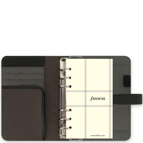 Органайзер Filofax Personal Fusion в сочетании микрофибры цвета хаки и черной кожи, фото