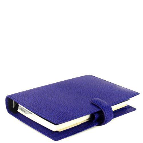 Органайзер Filofax Personal Finsbury из зернистой синей кожи, фото