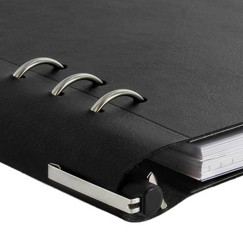 Черный кожаный органайзер Filofax ClipBook A5 Classic со съемными бланками, фото