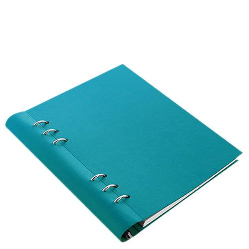 Голубой органайзер Filofax ClipBook A5 Classic со съемными бланками в кожаной обложке, фото
