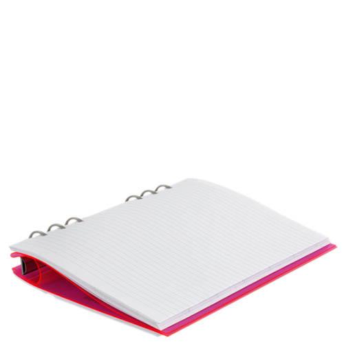 Розовый органайзер Filofax ClipBook A5 Gummy в прозрачной пластиковой обложке, фото
