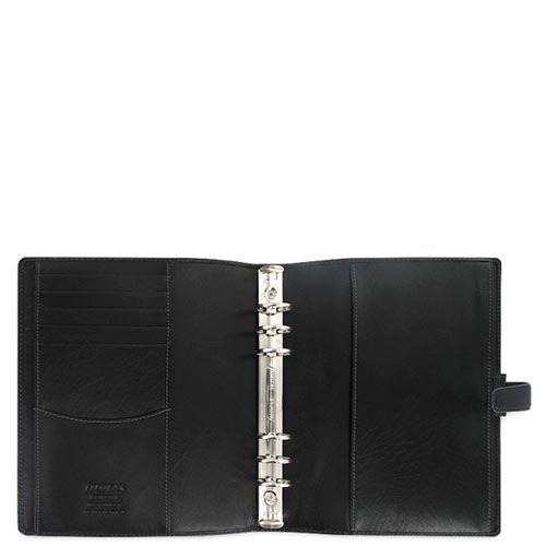 Профессиональный органайзер Filofax A5 Holborn черный с зернистой текстурой, фото