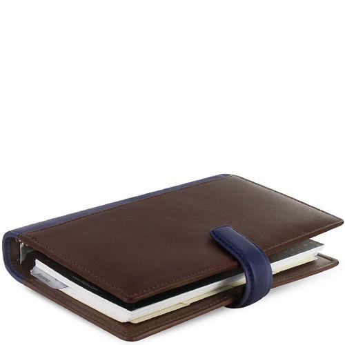Органайзер Filofax Personal Nappa кожаный коричневый с темно-синими вставками, фото