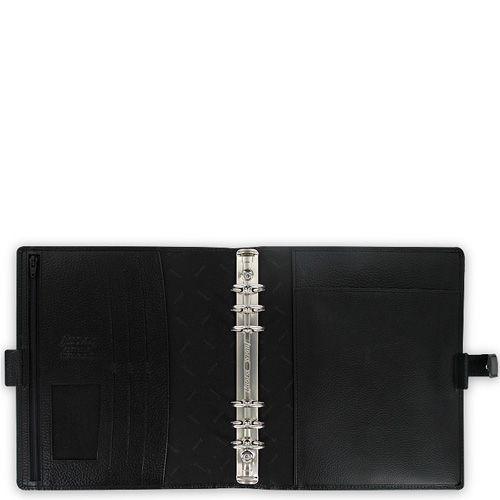 Профессиональный органайзер Filofax А5 Finsbury кожаный черный, фото