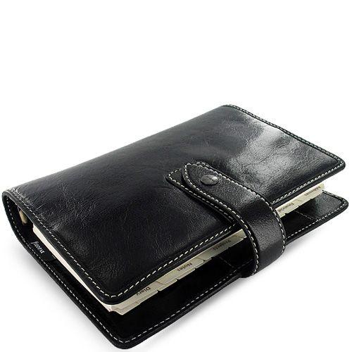 Универсальный органайзер Filofax Personal Malden кожаный черный, фото