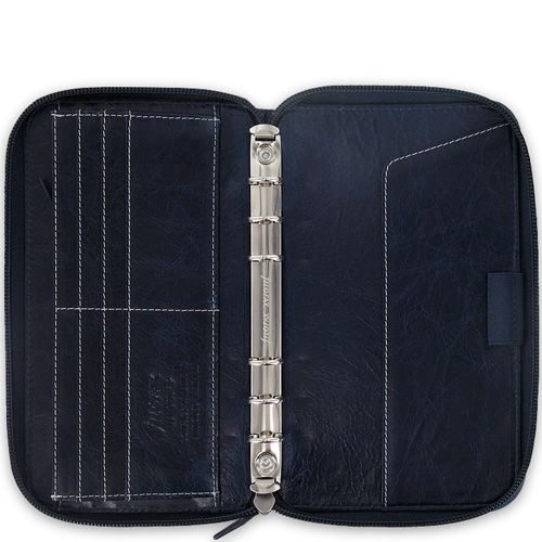 Многофункциональный органайзер Filofax Compact Malden Zip кожаный темно-фиолетовый на молнии, фото
