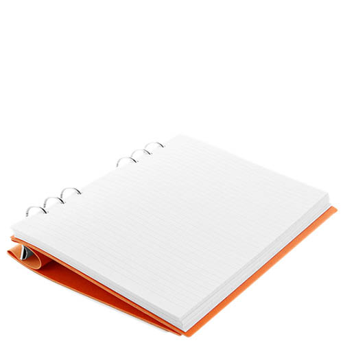 Большой органайзер Filofax ClipBook A5 Classic в обложке и оранжевой экокожи, фото