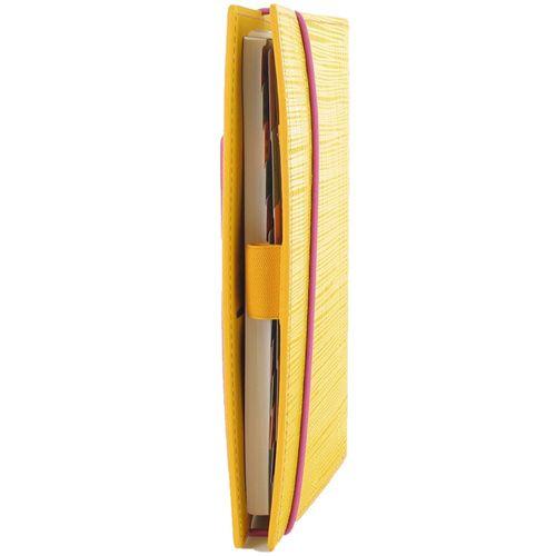 Органайзер Filofax Personal Apex желтый с фактурой Сафьяно и розовый резинкой-креплением, фото