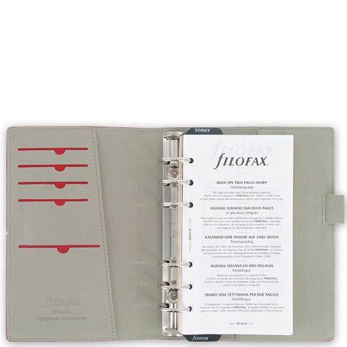 Органайзер Filofax Personal Domino бордовый на резинке, фото