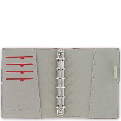 Карманный органайзер Filofax Pocket Domino фиолетовый на резинке, фото