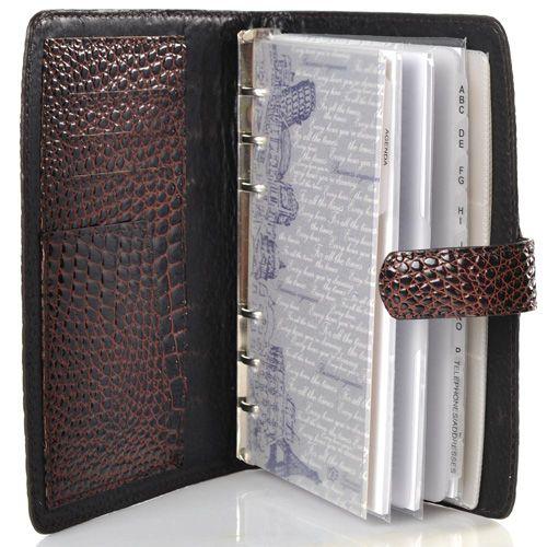 Записная книжка VIF с ежедневником и визитницей в кожаной лаковой обложке, фото