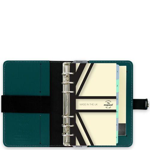 Органайзер Filofax Personal The Original кожаный темного цвета морской волны, фото