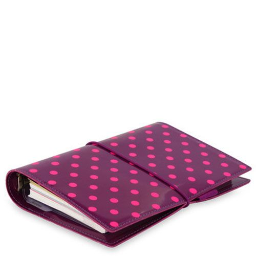 Органайзер Filofax Domino Personal розовый на резинке, фото