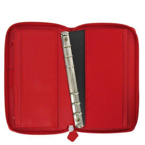 Органайзер Filofax Saffiano Compact красного цвета, фото