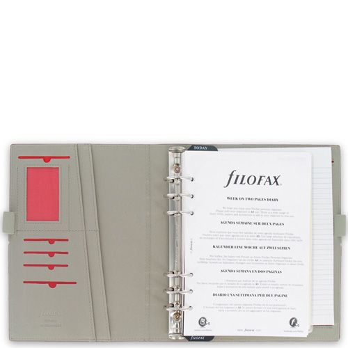 Органайзер Filofax А5 Domino бордовый на резинке, фото