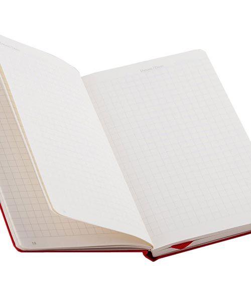 Карманная записная книжка Leuchtturm1917 красного цвета в клетку, фото