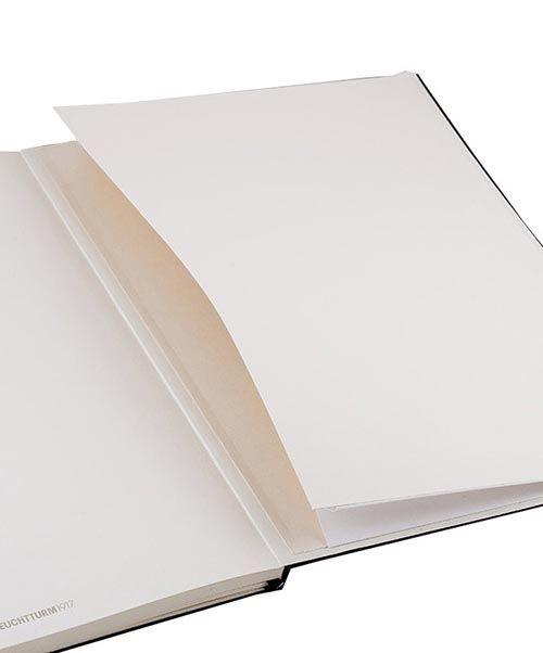 Большая записная книжка Leuchtturm1917 Мастер А-4 Слим белого цвета без разметки, фото