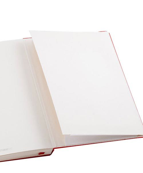Средняя записная книжка Leuchtturm1917 малинового цвета в клетку, фото