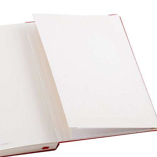 Средняя записная книжка Leuchtturm1917 Неон оранжевого цвета без разметки, фото