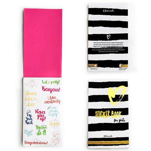 Книга с наклейками Chicardi Sticker Book for girls, фото