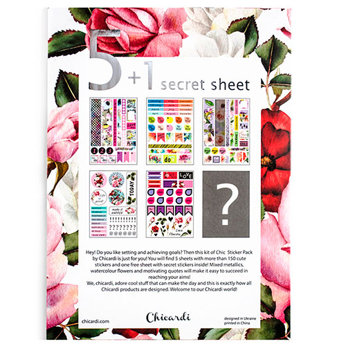 Набор наклеек Chicardi Chic sticker pack Floral, фото
