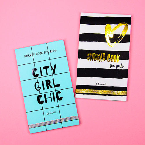 Книга с наклейками Chicardi Sticker book for real City Girl Chic, фото