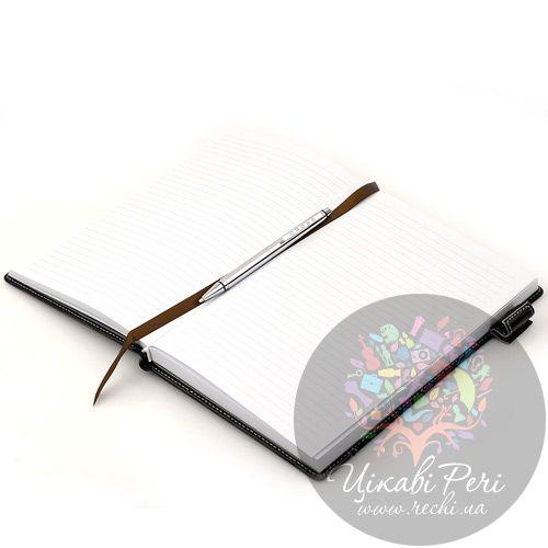 Блокнот Signature средний черный с ручкой, фото