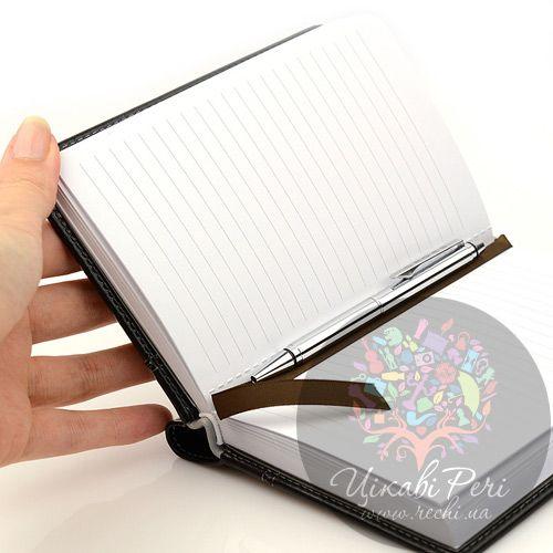 Блокнот Signature малый черный с ручкой, фото