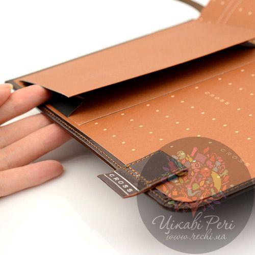 Блокнот Signature средний коричневый с ручкой, фото
