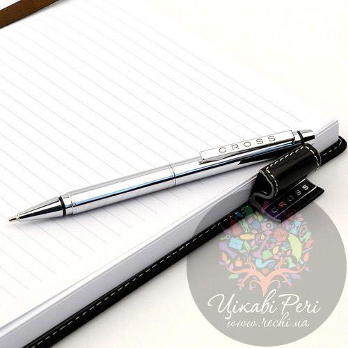 Блокнот Cross Textured средний черный с ручкой, фото