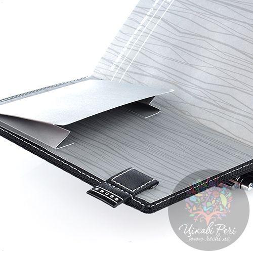 Блокнот Cross Textured малый черный текстильный с ручкой, фото
