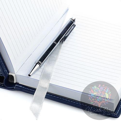 Блокнот Cross Textured малый синий текстильный с ручкой, фото