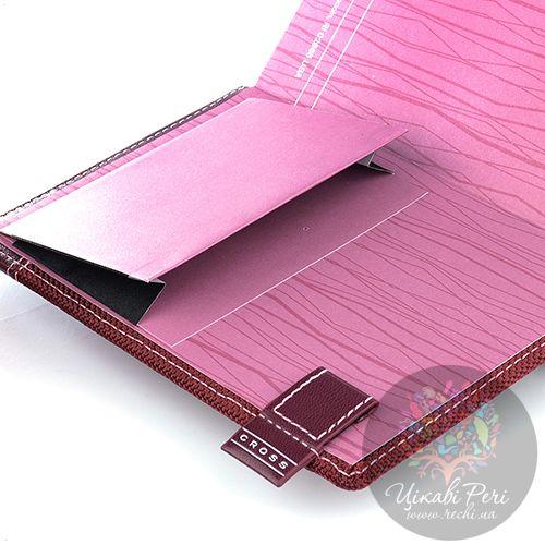 Блокнот Cross Textured малый цвета бордо текстильный с ручкой, фото