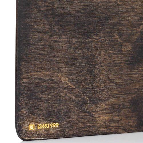 Блокнот из натурального дерева GBwoodArt с рисунком , фото