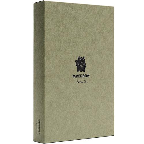 Записная книжка Manekibook из кожи черного цвета, фото