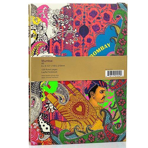 Блокнот Christian Lacroix Papier City Journal Bombay А5 с лентой-закладкой, фото