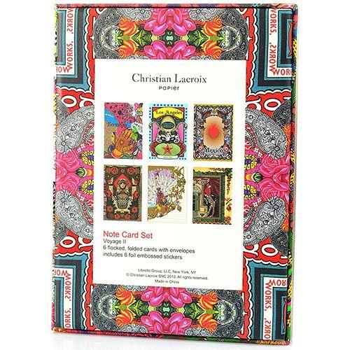 Набор открыток Christian Lacroix Papier Voyage II с золотыми наклейками с логотипом, фото