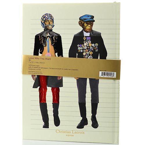 Блокнот Christian Lacroix Papier Love Who You Want формата B5 с лентой-закладкой, фото