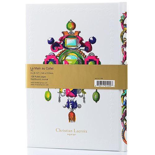 Блокнот Christian Lacroix Papier Le Main au Collet Jewel формата A5 с лентой-закладкой, фото