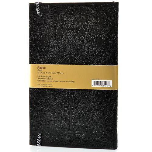 Блокнот Christian Lacroix Papier Paseo черный рельефный А5 в твердом переплете, фото