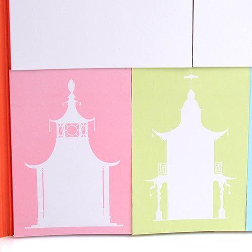 Набор дизайнерких стикеров Architectural Watercolors с обелисками и фонтанами Версаля, фото